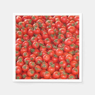 Rote Rebe-Tomaten Papierserviette