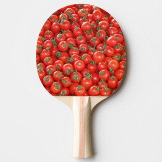 Rote Rebe-Tomaten Tischtennis Schläger