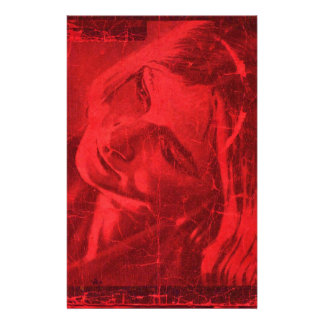 Rote Reflexionen Büropapiere