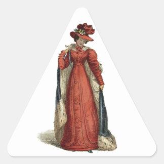 Rote Regentschafts-Dame Dreieckiger Aufkleber