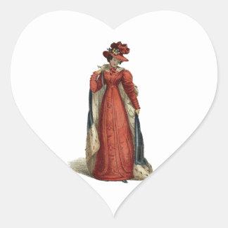 Rote Regentschafts-Dame Herz-Aufkleber