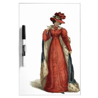 Rote Regentschafts-Dame Trockenlöschtafel