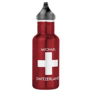 Rote Reise Schweizer Flagge der Schweiz persönlich Edelstahlflasche