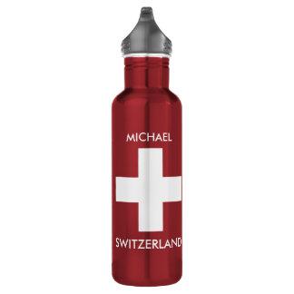 Rote Reise Schweizer Flagge der Schweiz persönlich Trinkflasche