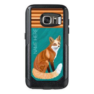 Rote Retro optionale Streifen Fox Art-galaxys7 OtterBox Samsung Galaxy S7 Hülle