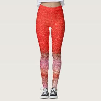 Rote rosa goldene Gamaschen Leggings