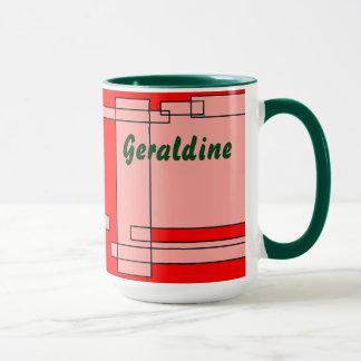 Rote rosa grüner Tee-Tasse Geraldine Tasse