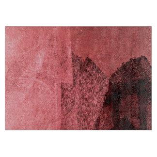 Rote rosa schwarze Liebe inspirierte abstrakte Schneidebrett