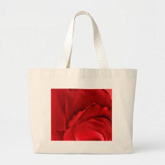 Rote Rose abstrakt Jumbo Stoffbeutel