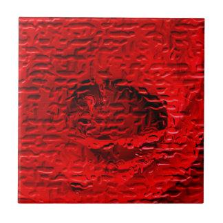 Rote Rose abstrakt Keramikfliese