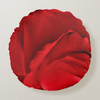 Rote Rose abstrakt Rundes Kissen