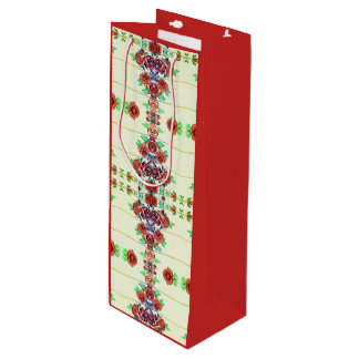Rote Rose auf der Wandweintasche Geschenktüte Für Weinflaschen
