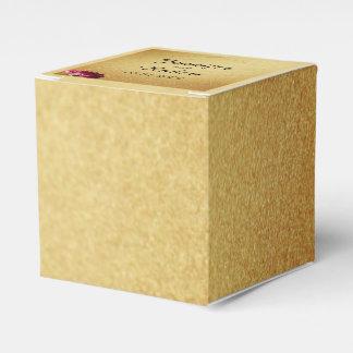Rote Rose auf GoldGastgeschenk Hochzeits-Kasten Geschenkschachteln