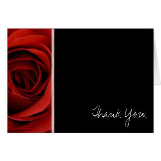 Rote Rose - danke Karte