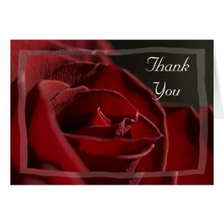 Rote Rose danken Ihnen Karte