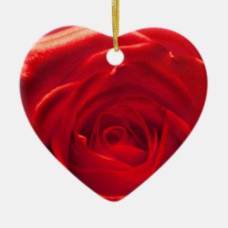 Rote Rose Makroaufnahme Keramik Ornament