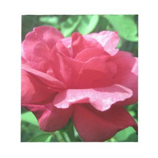 Rote Rose Notizblock