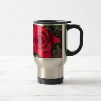 Rote Rose Reisebecher