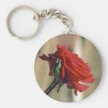 Rote Rose Schlüsselband