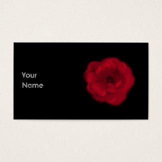 Rote Rose. Schwarzer Hintergrund Visitenkarte