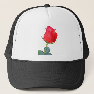 Rote Rose Truckerkappe