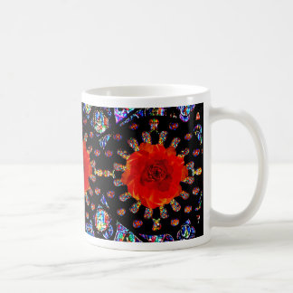 Rote Rose Windows Kaffeetasse