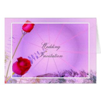 Rote Rosen, die Einladungs-Karte Wedding sind Grußkarte