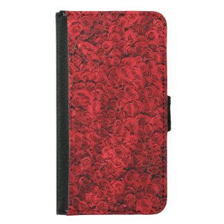 Rote Rosen Geldbeutel Hülle Für Das Samsung Galaxy S5