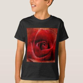 Rote Rosen Makro T-Shirt