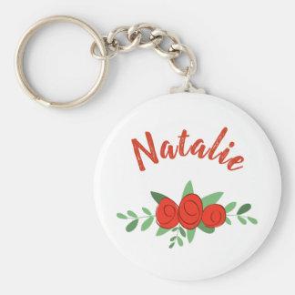 Rote Rosen personalisiertes Namensmit Schlüsselanhänger