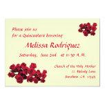 Rote Rosen Quinceanera 12,7 X 17,8 Cm Einladungskarte