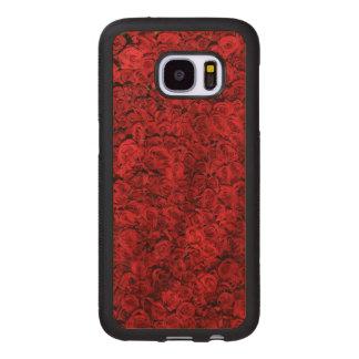 Rote Rosen Samsung Galaxy S7 Holzhülle