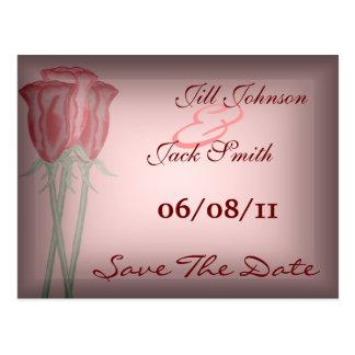 Rote Rosen Save the Date Postkarte