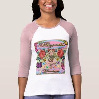 Rote Rosen, Schmetterlinge, Blumen 3/4 HülseRaglan T-Shirt