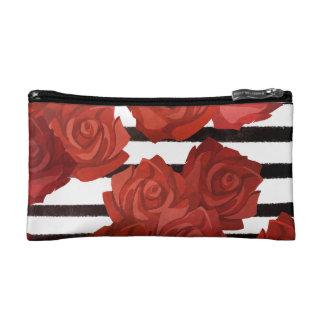 Rote rosige Art Makeup-Tasche