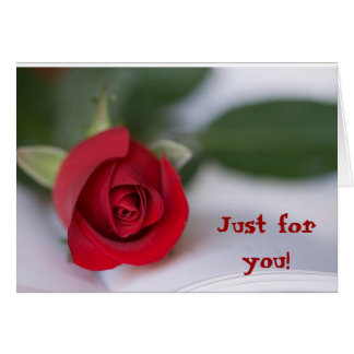 Rote Rote Rose, gerade für Sie! Karte