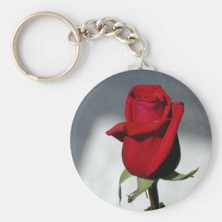 Rote Rote Rose Schlüsselanhänger