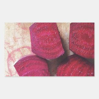 Rote rote Rüben Rechteckiger Aufkleber