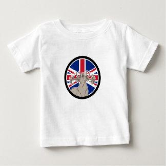 Rote Rotwild-Gewerkschafts-Jack-Flaggen-Ikone Baby T-shirt