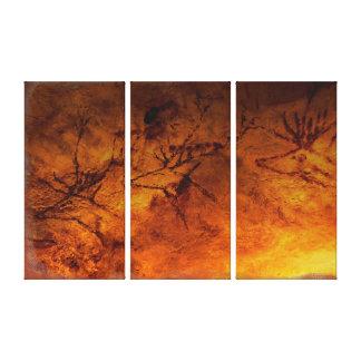 Rote Rotwild von Lascaux Galerie Gefaltete Leinwand