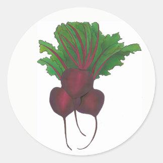 Rote Rüben-Bündel-Gemüsevegetarier-im Garten Runder Aufkleber