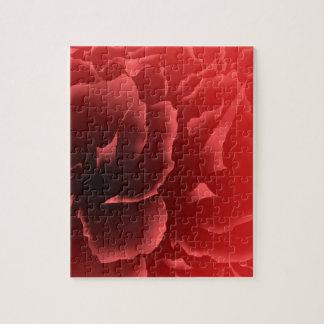 Rote Samt-Pfingstrose Puzzle