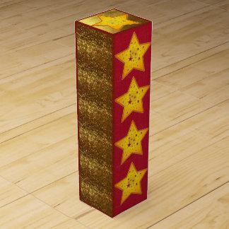 Rote Samt-und GoldGeschenkboxen Wein-Geschenkverpackung