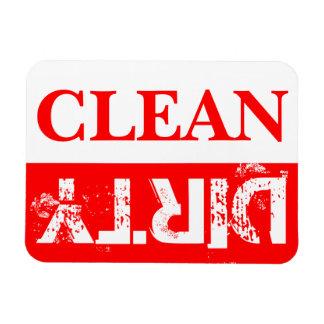Rote saubere und schmutzige Spülmaschine Magnet