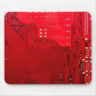 rote Schaltungsmotherboard-Musterbeschaffenheit Mousepads