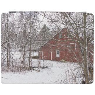Rote Scheune im Schnee iPad Smart Cover