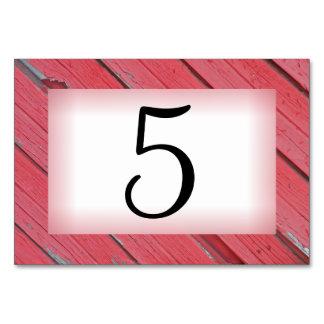 Rote Scheunen-hölzerne Ranch-Tischnummer Karte