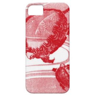 Rote Schildkröten in wirbelndem Wasser Barely There iPhone 5 Hülle
