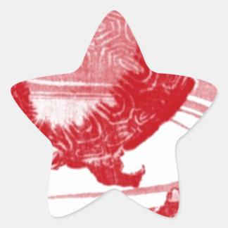 Rote Schildkröten in wirbelndem Wasser Stern-Aufkleber