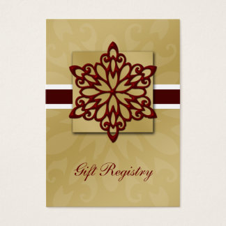 rote Schneeflocken Geschenkladen Karten